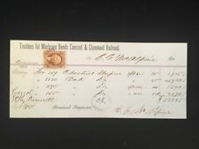 USED RECEIPT CONCORD & CLAREMONT RR W/AFFIXED REV #R15c HANDSTAMP NORTHERN NH RR