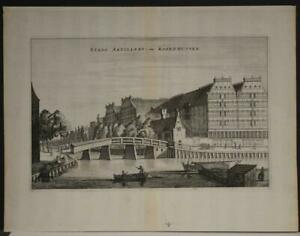 AMSTERDAM LIJNBAANS NETHERLANDS 1663 DAPPER ANTIQUE COPPER ENGRAVED VIEW