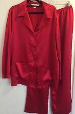 Victoria Secret Satén Rojo Pijama Lencería's conjunto ropa de dormir grandes