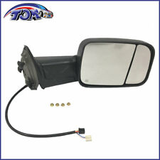 MIRROR TOW POWER HEATED SIGNAL PUDDLE LIGHT TEXTURED BLACK RIGHT RH FOR 13-16RAM