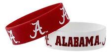 Alabama Crimson Tide Wrist Bands Logo Bracelets 2 Pack PVC Silicone Rubber