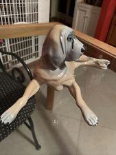 Vintage Blood Hound Dog Figurine Made In Spain Very Unique