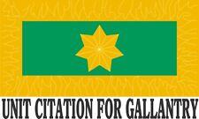 CORAL - BALMORAL UNIT CITATION FOR GALLANTRY  W/STAR VINYL STICKER 146 X 87.7MM