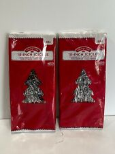 """2 Packs of New Silver Christmas Tree Icicles 1000 Strands Each 18"""" Tinsel 2000"""