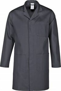 Arbeitsmantel Kittel Berufsmantel Laborkittel Mantel Berufskittel grau Gr XS-5XL