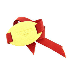 Loewe Bangle Bracelet Logo Beige Orange Woman Authentic Used A1051