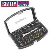 "SEALEY Socket & Bit Set 31pc 1/4""Sq Drive SO1036"