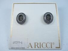 Earrings with Enamel Cameo 0889 Nina Ricci Rhodium Plated Pierced