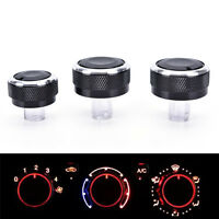 3 Aluminum Alloy Air-Condition Control Elegant Switch For VW 99-03 Mk4 Golf HC