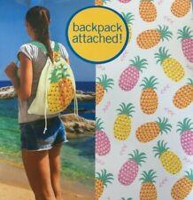 New White Pink Orange Yellow Pineapple Sun&Sky Backpack Beach Pool Towel 28 x 58