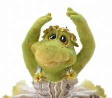 Boyds Bears Tutu C Ribbit Frog Lake Resin Figurine Wee Folkstone Collectible Art
