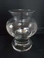 Superb Quality Vintage Scandinavian Swedish Art Glass Vase Heavy Base 6""