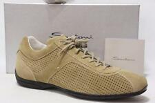 SANTONI FOR AMG PERFORATED SUEDE LEATHER  SNEAKERS SHOES 11/12