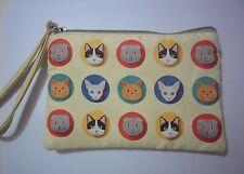 Cute Cotton Canvas Small Zipper Wallet Bag Purse Coin Key Phone Holder Girl-Cat8