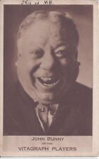 1920s EARLY MOTION PICUTRES ADVERTISING CARD ACTOR JOHN BUNNY VITAGRAPH PLAYERS