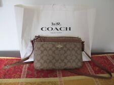 Coach Signature Khaki Crossbody Bag NWT