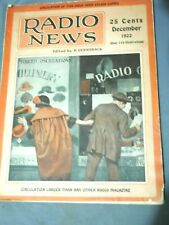 Collectable December 1922 Radio News Magazine