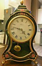 ELUXA QUARTX NEUCHATEL SWISS MANTEL CLOCK W/Key