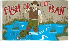 """New listing """"Fish Or Cut Bait"""" 3x5 ft flag polyester"""