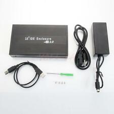 "3.5"" IDE External Hard Drive Enclosure Case USB 2.0 Support 1TB w Black New"