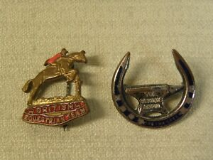 Pins Lot of 2 British Equestrian Team Horse Famous Anvil Horseshoe Gretna Green