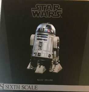 SIDESHOW R2-D2 DELUXE 1/6 SCALE 12 Inch star wars Plastic type