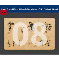 LIANG-0008 Paint Crack Effects Airbrush Stencils Tools for 1/24 1/35 1/48 Model