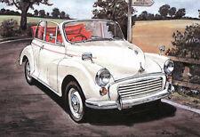 Morris Minor - Juego de 4 Postales - Mm 1000 Descapotable Traveller & Serie II