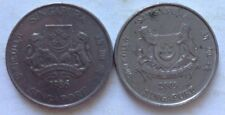 Singapore 2nd Series 2 pcs 20 cents (1986 & 2009) coin