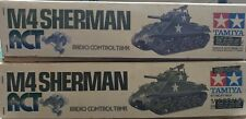 Tamiya 1/16 RC M4 Sherman x 2 kits.  RCT 1:16  origl ver used excellent   RT1601