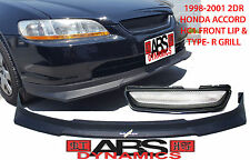 1998 2000 HONDA ACCORD 2dr COUPE HC1 Style Front Lip AND Type R Grill Combo ABS