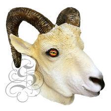 Latex Full Head Popular Farm Animals Ram Fancy Dress Up Carnival Party Mask