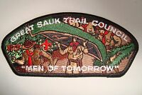 OA GREAT SAUK TRAIL COUNCIL 88 PATCH SCOUT FLAP MEN OF TOMORROW 2007 CSP TOUGH!