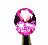 5.66 Ct Oval Cut Natural Cambodia Neon Pink Zircon Ggl Certificate Gemstone