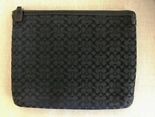 COACH - iPad Tablet Sleeve Cover Black Signature C Patent Leather Detail - RARE