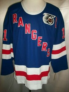 Mark Messier New York Rangers Blue, Red & White 1945-46 Throwback CCM NHL Jersey