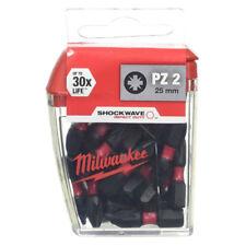 Milwaukee PZ2 x 25mm Torsion Bits Screwdriver Adaptor 30x Long Life Impact Duty