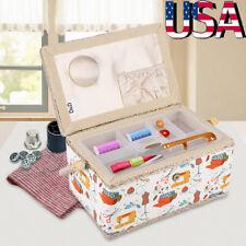Needle Thread Sewing Basket Tool Household Storage Box Rectangle Large Size US