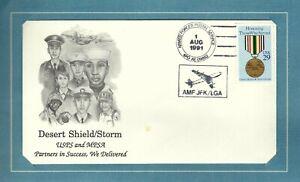 Military: Desert Shield/Desert Storm Commemorative Cover US Postal Service/JFK