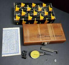 Brown Amp Sharpe Best Test 2um Dial Indicator Set Swiss Made 7033 10 Machinist
