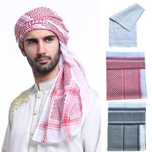 Men's Muslim Islams Hijab Caps Turban Hat Arab Abayas Headscarf Scarf Headwear