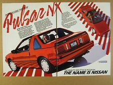1987 Nissan Pulsar NX SE red car photos vintage print Ad