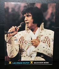 Elvis Presley Original Las Vegas Hilton Menu Jan/Feb Engagement 1974