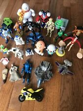 Lot of 25 Assorted Mini Toy Figurines Characters Transformers Etc.