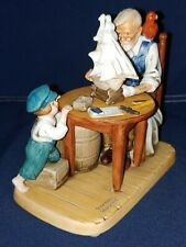 "1980 Norman Rockwell Porcelain Figurine ""For A Good Boy"" ~ Americana, Nautical"