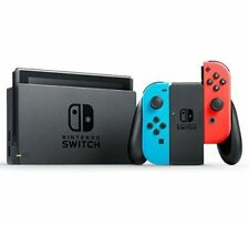 Nintendo Switch Neon Blue and Red Joy‑con With Generic Glass Screen Protector