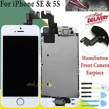 Replacement White For iPhone SE 5S LCD Screen Display Touch + Home Button Camera