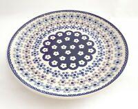 Geschenk Kuchen Speise Teller 26 cm Bunzlauer Keramik ni3308 Handarbeit must104