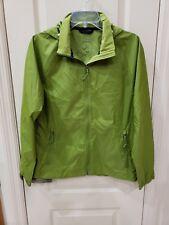Ll Bean Full Zip Windbreaker W/Hood Zippered Pockets Men's Small Light Green Vgc