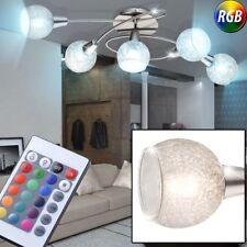 LED RVB boule en verre Plafonniers intensité variable ess chambre éclairage